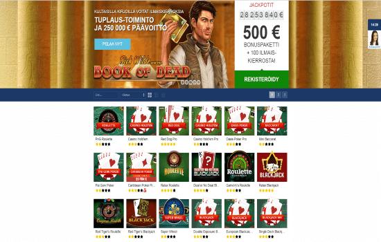 Finlandia Casino Table Games