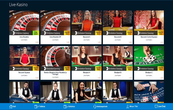 Fun Casino Live Dealer Page