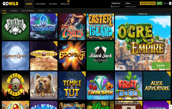 GoWild Casino Games