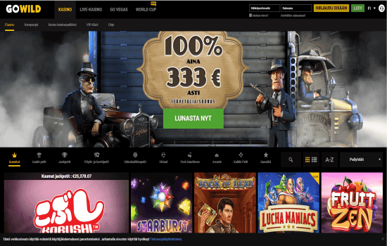 GoWild Casino Home page