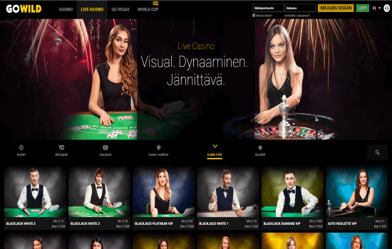 GoWild Casino Live Dealer