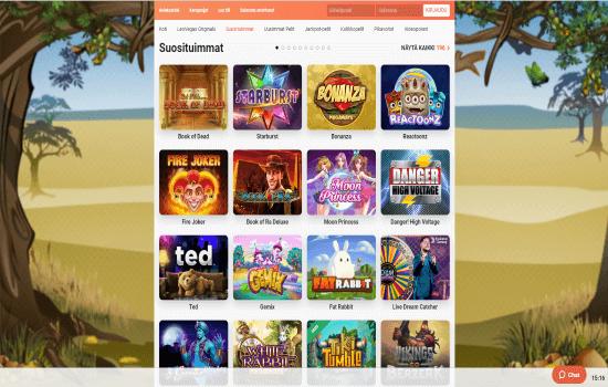 Leo Vegas games page