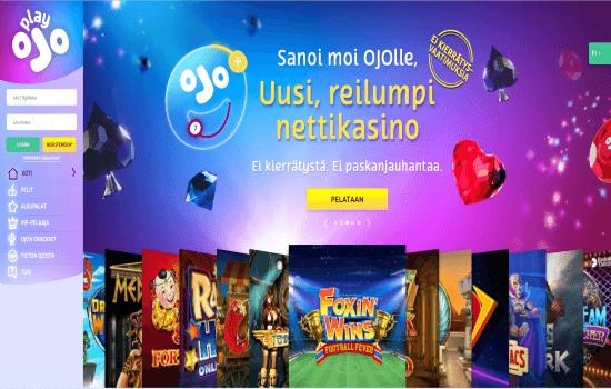 PlayOJO Home page