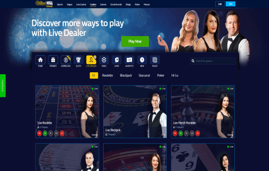 William Hill Live Dealer
