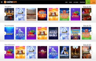 Casino.com Games page