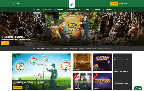 Mr Green Homepage