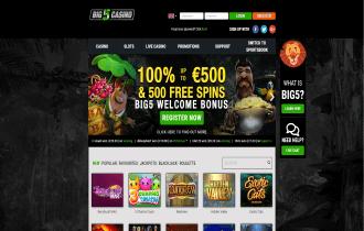 Big 5 Casino Homepage