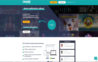 Chanz Casino Homepage
